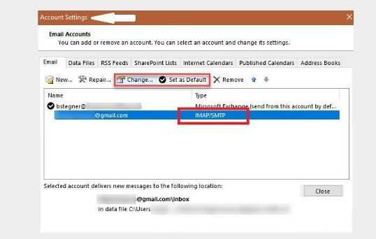 Configure Gmail in outlook image by webmailtech 2