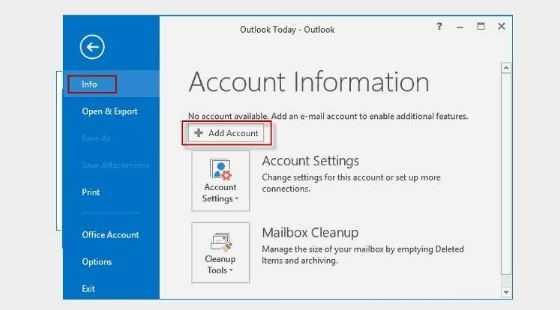 Gmail to outllook setup 4