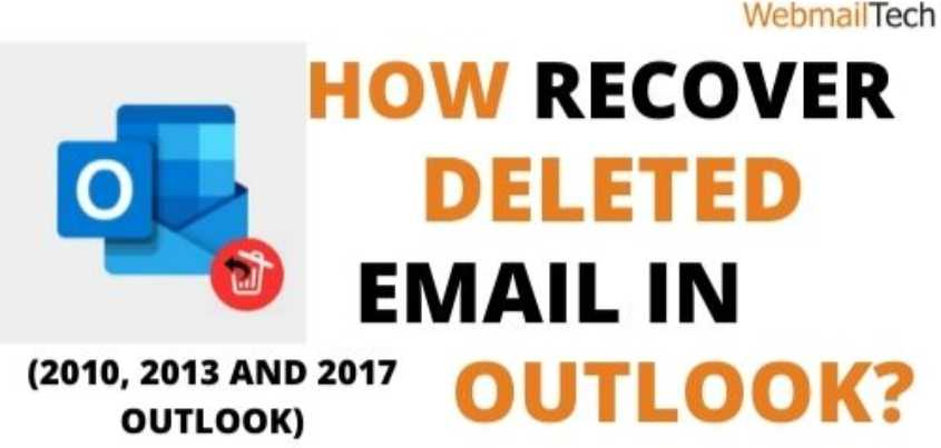 recover deleted email in outlook