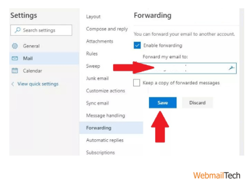 automatically forward Outlook emails to Gmail addresses.
