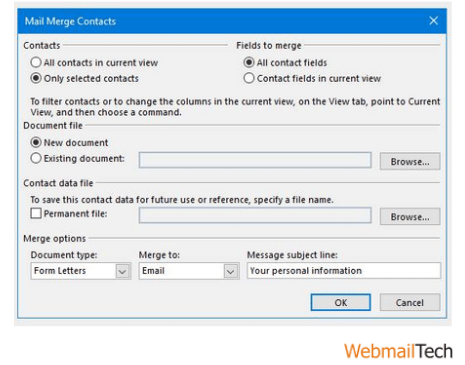 How To Mail Merge In Outlook 365