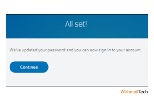 Here a confirmation message will pop-up and now you can access your Comcast email with a new password