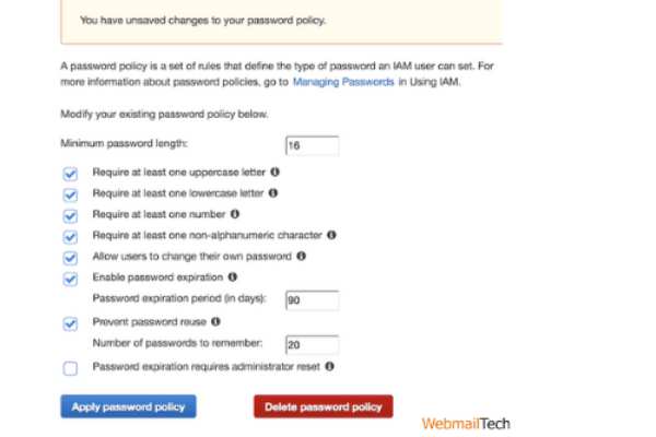 Select the Apply Password Policy button.
