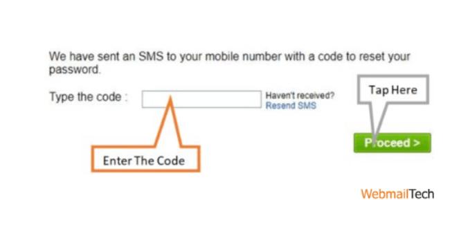 Enter the code.